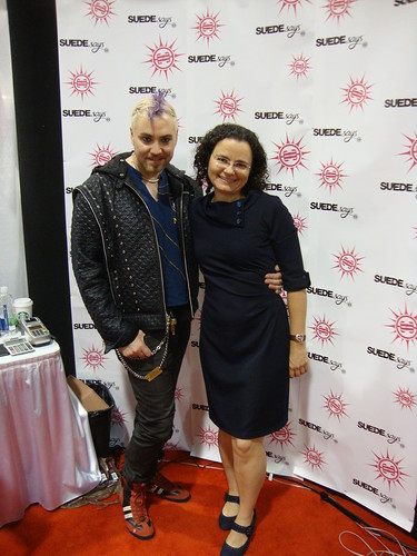 me with Suede at the Simplicity booth.  I'm in NewLook 6000