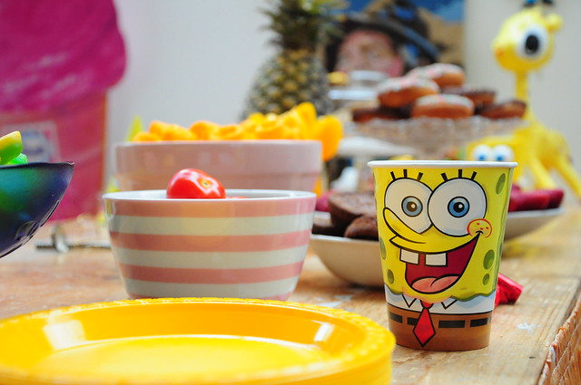 Milo's 4th arty Spongebob party