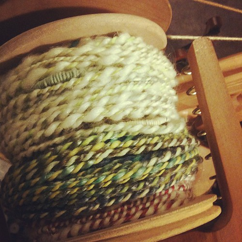 A smidge more spinning. #yarn