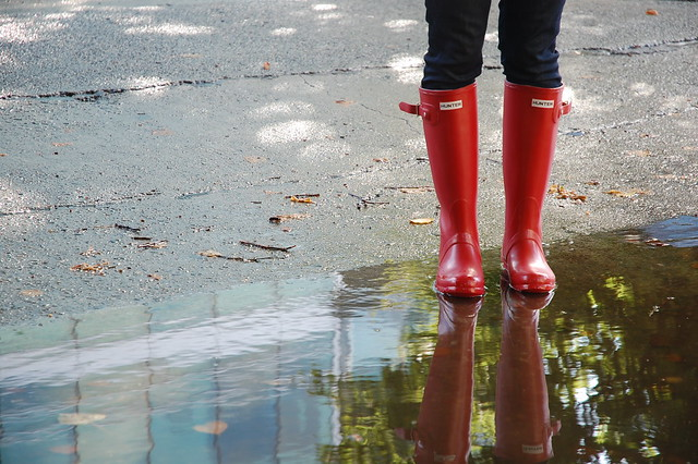 Wellies reflected