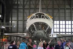 Space Shuttle Endeavour inside VAB