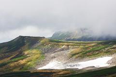 小白雲岳の万年雪