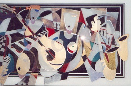 Time Musicians - Painting - Plexiglass