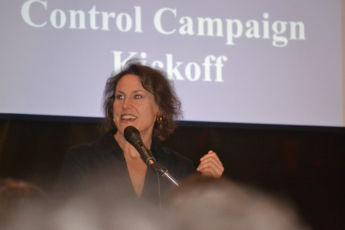 HCFA Executive Director Amy Whitcomb Slemmer Speaking at our Joint Health Care Cost Control Campaign Kick Off!