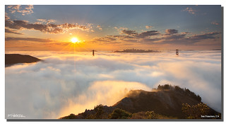 A Bay Area warm foggy morning, San Francisco, CA
