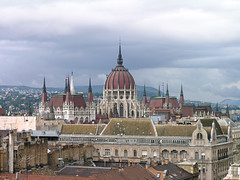 Budapest roofs with the parliament 01 (Romeodesign) Tags: old clouds hungary rooftops budapest parliament stormy roofs parlament gettyhungary1