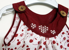 Sew - Cherry Print Dress - Embroidery