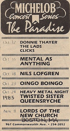 10-24-83 Twisted Sister/Queensryche @ Boston, MA
