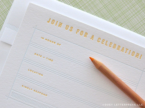 letterpress celebration set