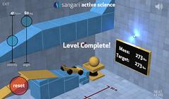 Sangari Physics Game - Target Weight matched!