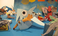 Jaws (Sarah Bridgland) Tags: collage paper cardboard matchbox underthesea kingsplace thebigdraw sarahbridgland thebigsplash matchboxworkshop