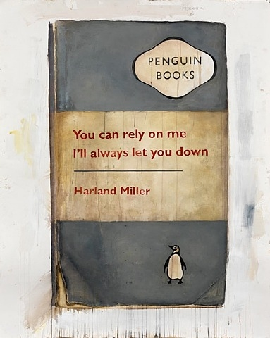 Harland Miller, You can rely on me, I'll always let you down, 2011, print