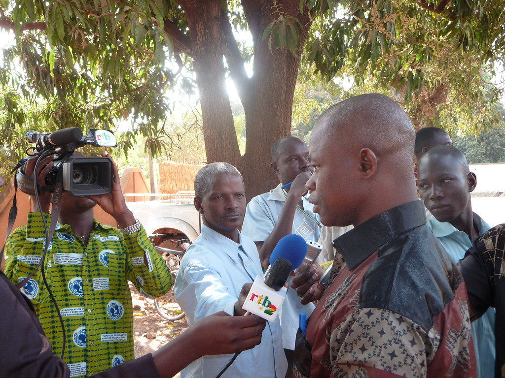 interview d'un leader paysan togolais participant à la bourse agricole au BF