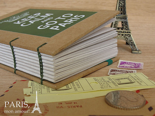 Sketchbook keep Calm and Go to Paris
