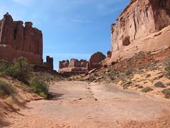 """Park Avenue,"" Arches National Park, Utah (rwchicago) Tags: landscape utah nationalpark sandstone september moab archesnationalpark monolith monoliths parkavenue 2011"