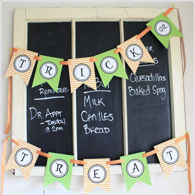 printable halloween trick or treat banner