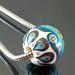 Charm bead : Turquoise ball