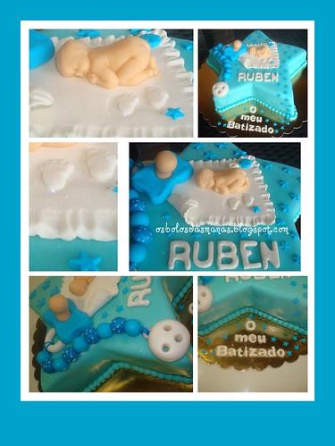 Detalhes Bolo Batizado do Ruben by Osbolosdasmanas