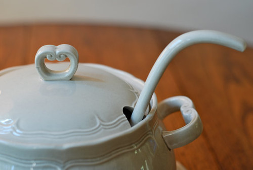 vintage grey soup tureen gravy Japan