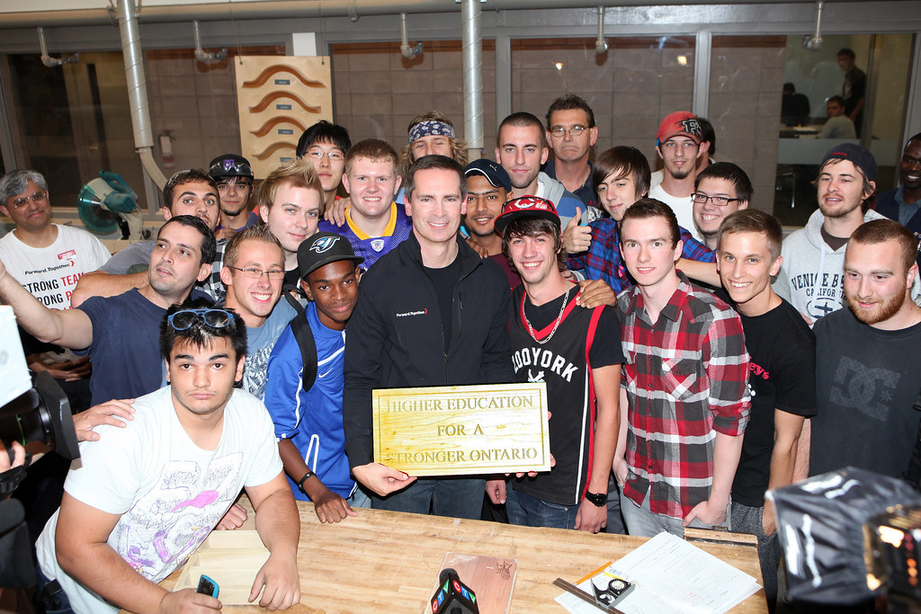 Dalton McGuinty visits the Humber College campus in northern Etobicoke to speak with students about the successful Second Career jobs program, created under the Liberal government. Over 50,000 Ontaria