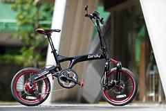 Tokyo Birdy! (benny ng) Tags: red black bike bicycle japan canon tokyo shinjuku pacific sony taiwan    folding bd1 birdy foldingbike bianchi brompton foldingbicycle dahon rm schwalbe  foldable fretta nex rohloff