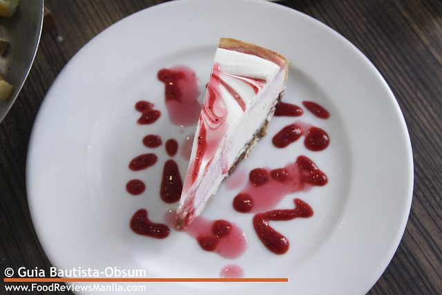 Fish and Co. Strawberry Daiquiri Cheesecake
