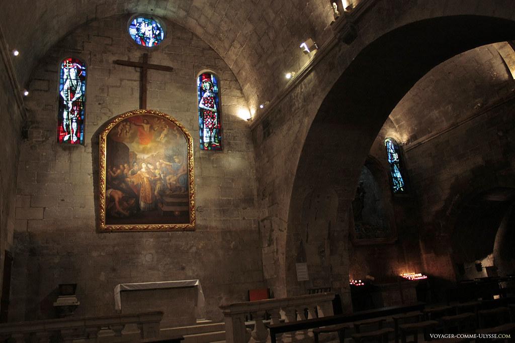 Cette église était clairement un lieu protégé et facilement défendable