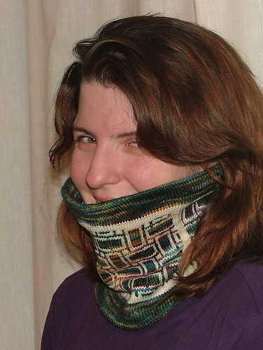 Test Knitting Cowl
