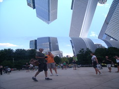Unparalleled (RJohn123) Tags: park city people sculpture cloud distortion chicago reflection building art mirror illinois gate millenium bean reflect mirroring distorting