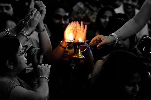 The Blessings (pallab seth) uk england london festival nikon culture celebration plates tradition hinduism puja ealing cultural durgapuja aarti bengali nri pujo 2011 ealingtownhall londondurgapuja durgapujainlondon bengalee londonsharadutsav tamronaf90mmf28dispam11macrolens