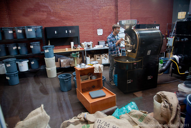 Roaster at Victrola Coffee