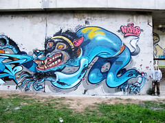 TEENWOLF (RABBIT EYE MOVEMENT) Tags: street urban art graffiti artillery vibes heavy teenwolf rt lords mofos shue nychos rabbiteyemovement sobekcis
