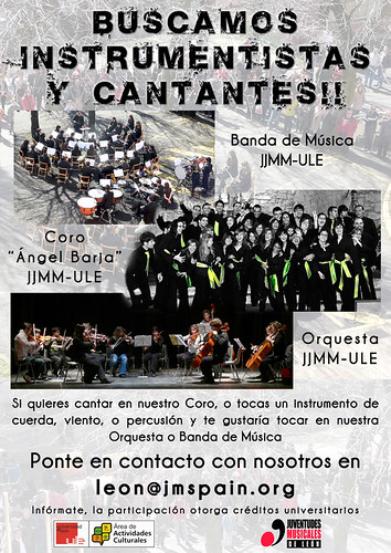 BUSCAMOS INSTRUMENTISTAS Y CANTANTES by Juventudes Musicales de León