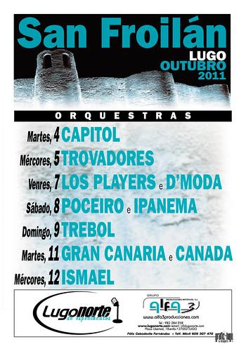 Lugo 2011 - Festas de San Froilán - cartel orquestras