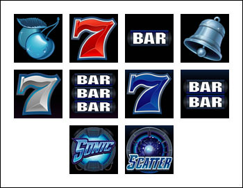 free Power Spins Sonic 7s slot game symbols