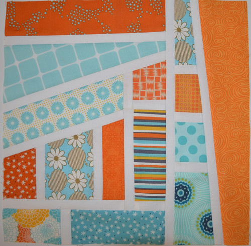 Aqua and Orange Bee - for Cassey