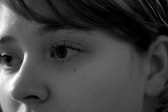276/365: I was made for this (Rebecca Pullins) Tags: blackandwhite selfportrait project eyes days 365