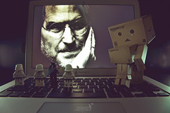 Tribute to our great steve *explored* (achew *Bokehmon*) Tags: storm trooper apple paper toy robot starwars amazon air steve job danbo macbook danboard