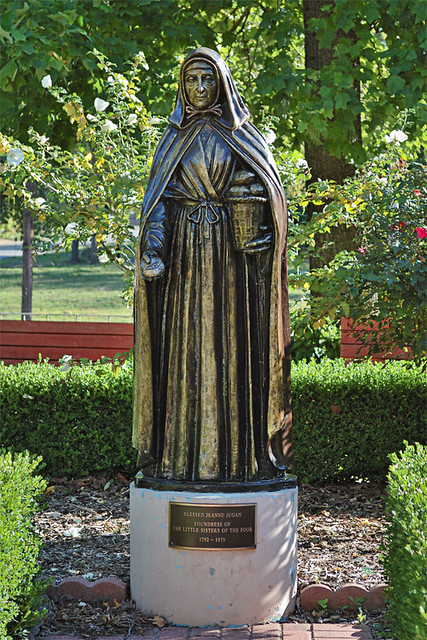 Little Sisters of the Poor, in Saint Louis, Missouri, USA - statue of Saint Jeanne Jugan, Foundress