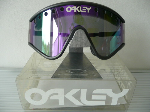 37d39a7b30 Oakley Eyeshades Factory Pilot Grey Black+Violet Iridium vented