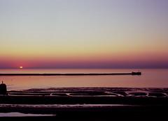 boulogne-sur-mer. coucher de soleil