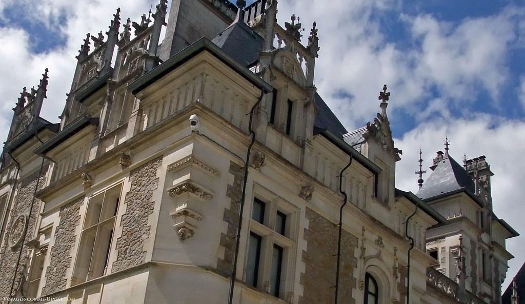 Détails de la façade du château