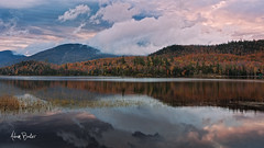 land of the living skies ([Adam Baker]) Tags: morning autumn lake ny reflection nature grass fog clouds canon landscape hiking foliage adirondack adk 24105l adambaker connerypond 5dmarkii