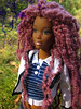 205 (Alrunia) Tags: dreadlocks toy doll nikki ooak barbie yarn christie asha dreads fashiondoll mattel aa shani reroot caligirl restyle 16thscale playscale