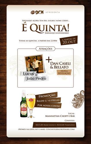 E-flyer - É Quinta (Piracicaba/SP) by chambe.com.br
