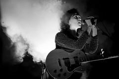 St. Vincent @ The Commodore Ballroom (gracemlau) Tags: blackandwhite bw music white black st fog vancouver sadness concert guitar smoke vincent indie annie commodore baroque drama stvincent commodoreballroom annieclark annieerinclark