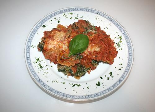 43 - Spinat-Ricotta-Cannelloni / Spinach ricotta cannelloni - Serviert