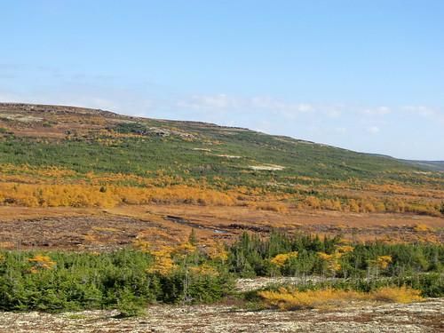Hills behind Lac à Truite