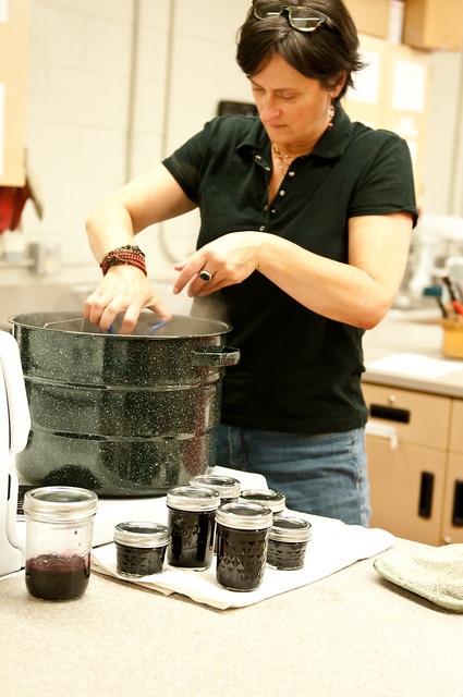 Teri working the jar wrangler