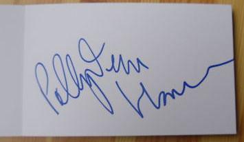 P.J. Harvey autograph